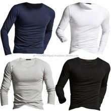 Men Cotton Polyester Slim Fit O-Neck T-Shirt Wholesale cheap price/OEM Custom Plain Slim Fit O-Neck T Shirt For Men