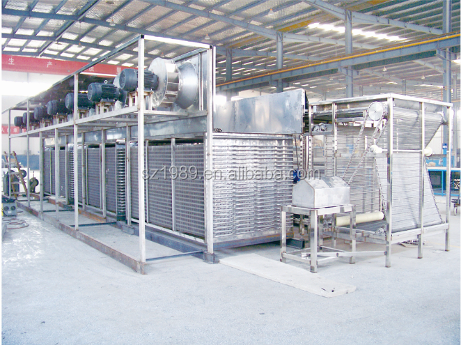 Industrial evaporative condenser for cold room and cold store