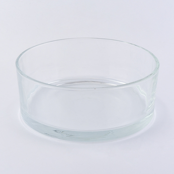 28oz round glass candle containres for wax filling