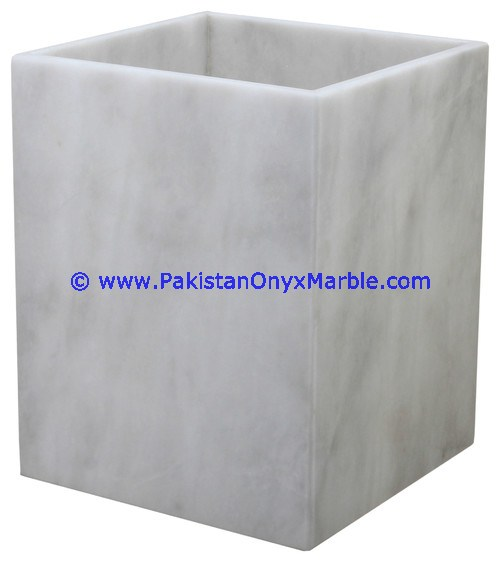 PURE NATURAL MARBLE WASTE BASKETS DUSTBIN TRASH