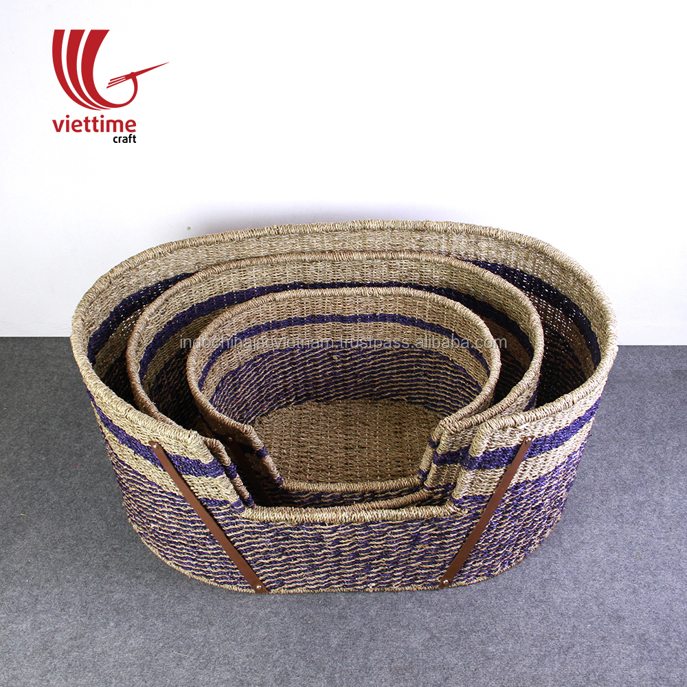 Set of 3 seagrass dog bed cave/ pet bed house wholesale made in Vietnam