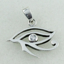 EYE OF HORUS DESIGN Cubic Zirconia Stone Sterling Silver 925 Pendant Jewelry