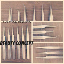 Eyelash Hair Extension Tweezers Remover Nail Art Straight and Curved Pointed / Eyelash Extension Tweezers