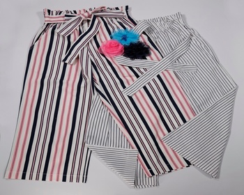 Unique Design Stripe Woven Culottes Pants For  kids girl  From Indonesia