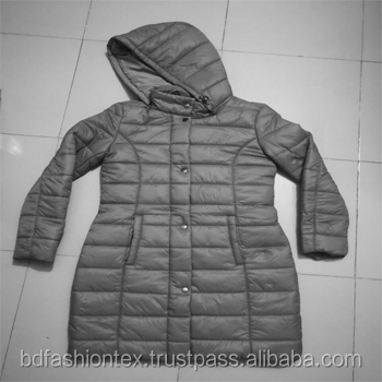 Ladies/woman Padded Jacket with hood intact original surplus European brand made in Bangladesh