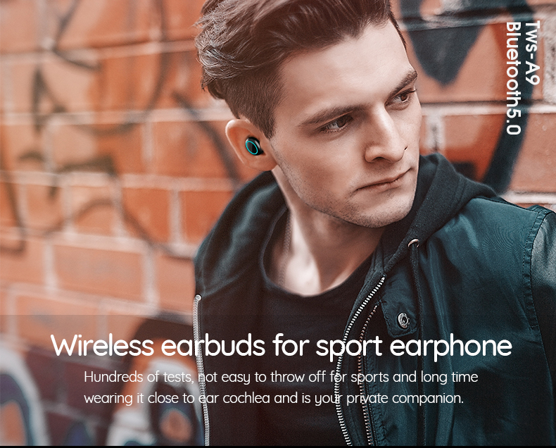 high-end and good looking mobile phone headphone with bluetooth 5.0 noise cancellation and waterproof