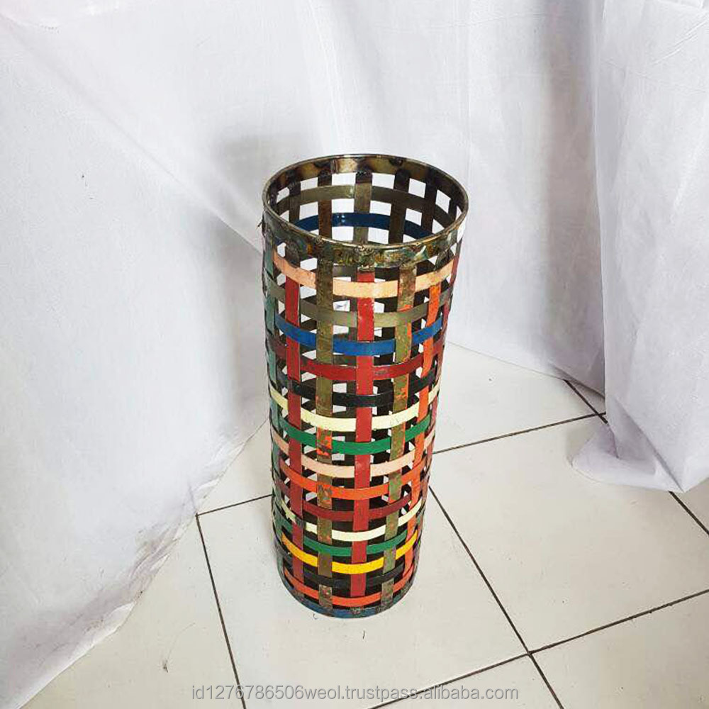 Multi Colour Umbrella Stand from Recycled Metal Material