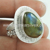Superior hotest silver ring labradorite gemstone jewellery 925 sterling silver rings jewelry wholesale