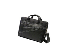 ADALLB - 0019 promotional leather bag for laptop / customized make leather satchel / name brand satchel messenger bag