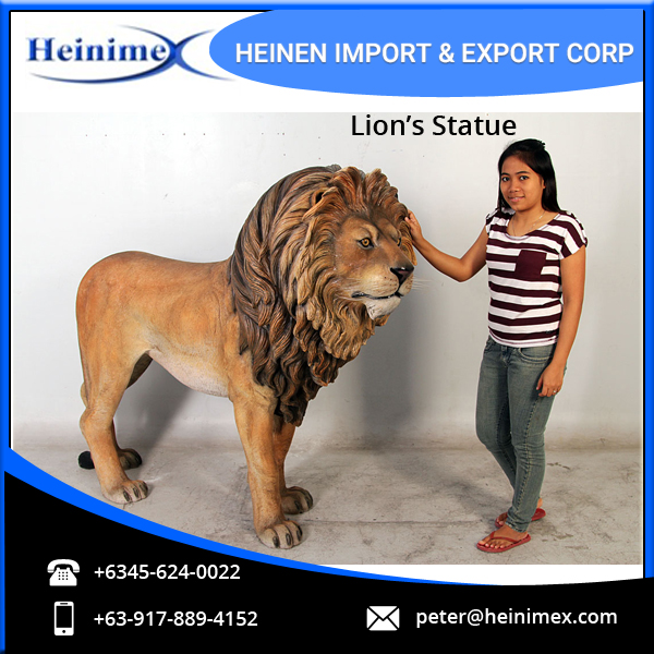 High Quality Fiber Glass Made Lion's Statue/Sculptures