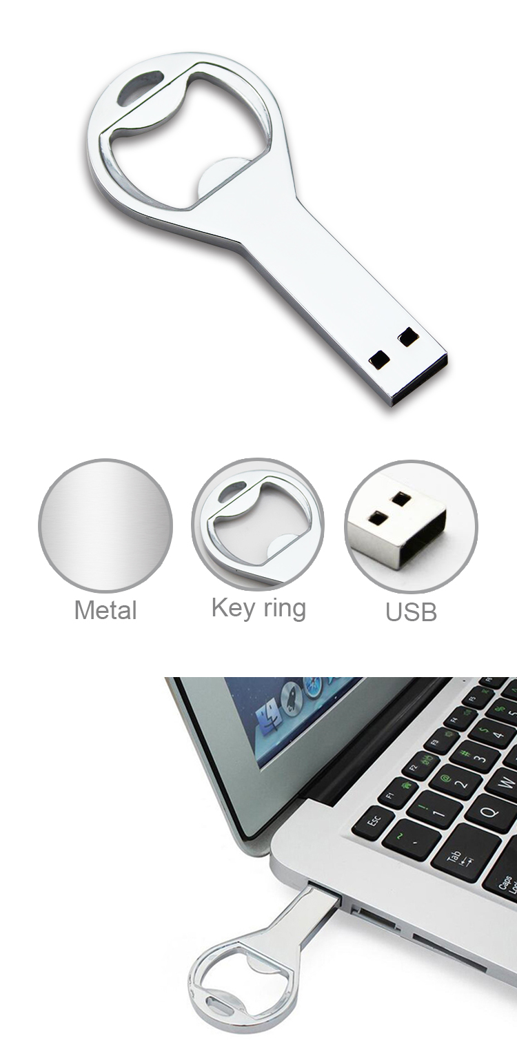 Custom Metal Pendrive Key Usb Flash Drive Stick Metal