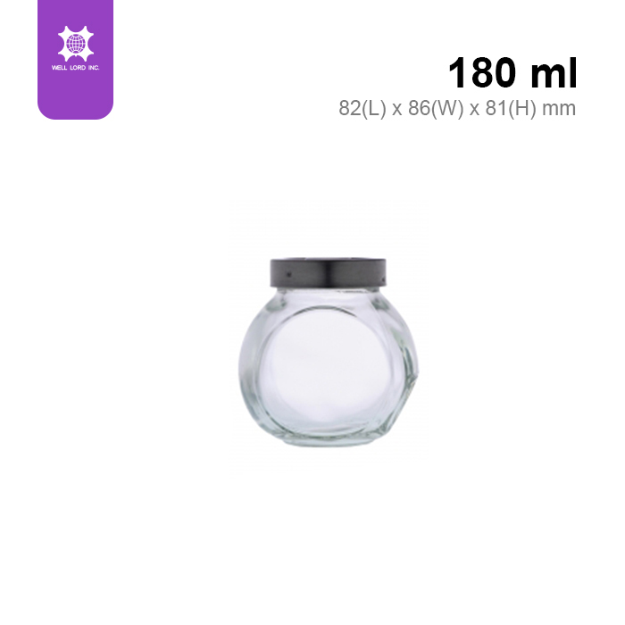 High quality wholesales transparent round glass food container