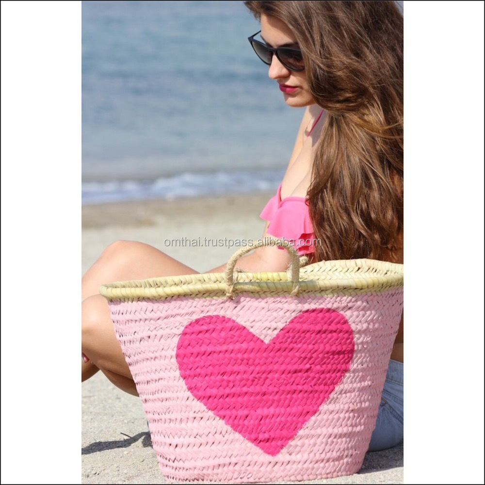 2018 fashion summer natural straw beach handmade bag for women made in Thailand