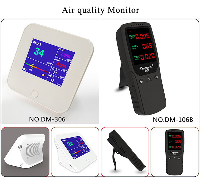 Accurate Testing Formaldehyde(HCHO) Monitor with PM2.5/PM10/TVOC Test Data Logger Detector Air Quality Meter