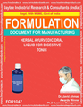 formula document for making Herbal Ayurvedic Oral Liquid For Digestive Tonic