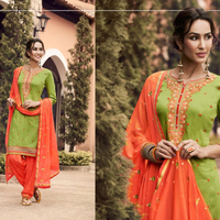 Latest Patiala Salwar Embroidered Designer Indian Woman Wear Suits