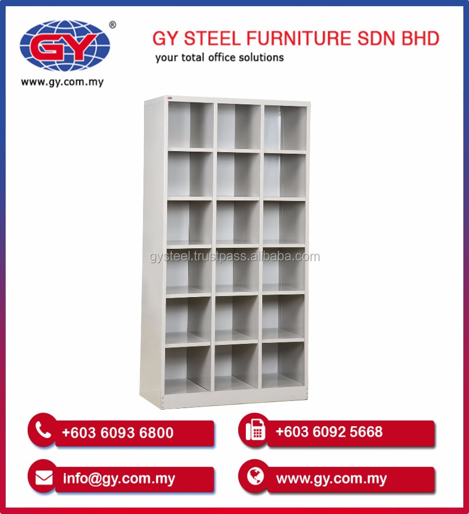18 Pigeon Hole Steel Rack for Office Cabinet Furniture - GY406