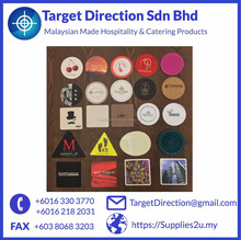 Custom Print Disposable Drinks Coaster Silicone Cork Laminated PulpBoard MDF Plastic Tissue PVC Paper Coaster