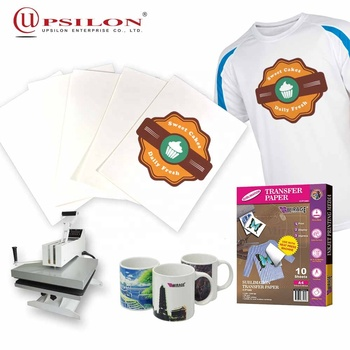 Printed heat dye sublimation transfer paper