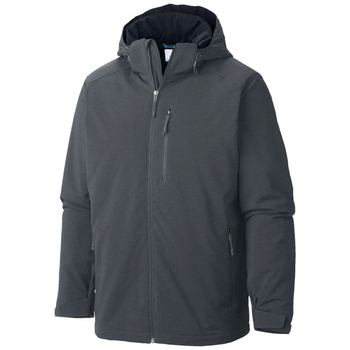 Gray Soft Shell Jacket Hoodie for Men 2019