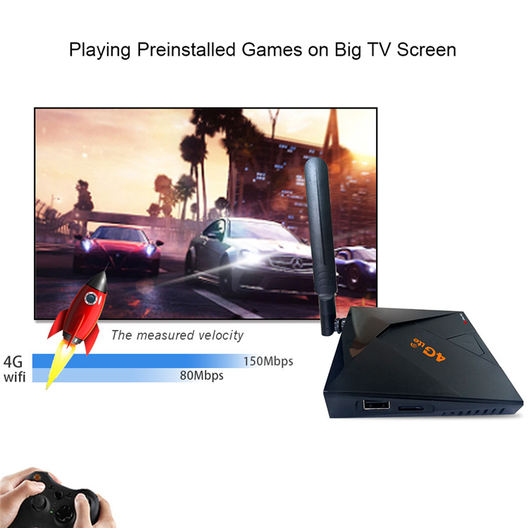 tv box with 4G lte RK3229 2G 16G cable tv converter with 2.4G wireless android tv box with 4G sim card
