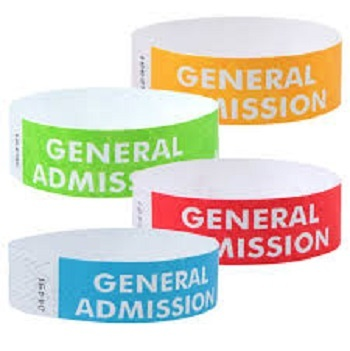 Non Tearable PP Synthetic Paper for Event Wristband