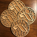 Unfinished wood coasters | Wood Tea Coaster Laser cut