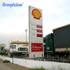 Free standing electronic fuel price sign board Led double side display petrol station/gas station pylon sign