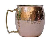 PURE AND COPPER HAND BEATEN MOSCOW MULE MUG