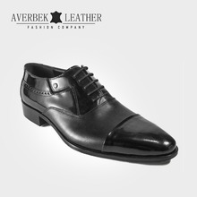 Italian Designer Turkish Black Oxfords Man Genuine Leather Mens Formal Dress Shoes