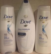 Hair shampoo dove