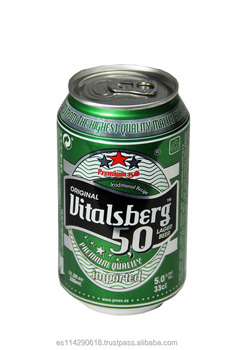VITALSBER Lager Beer 4.8% canned 24x33cl