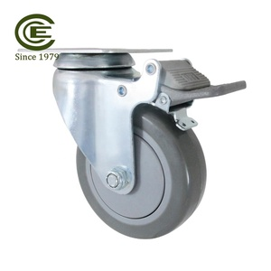 CCE Caster 4 Inch Polyurethane Silent Trolley Wheels With Brake
