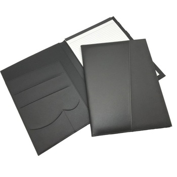 PU Leather Folder Document Organizer Writing Pad Business Card Holder Leather Conference Folder