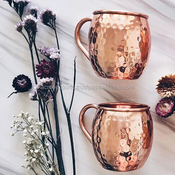 Copper Moscow Mule Mugs | Copper Mugs With High Quality | Copper Mule Mugs 100% solid Copper | 16oz Copper Mule Mugs