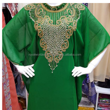 Most fashionable dress abhaya high quality moroccan beaded Jalabia kaftan dress