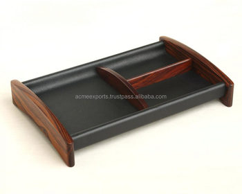 Table Top leather Compartment Trays | 3 compartment tray | candy tray with compartments | serving tray with compartments