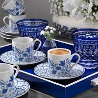 Porcelain Coffee and Tea Sets 6pcs Cups and Saucers Turkish Coffee Set