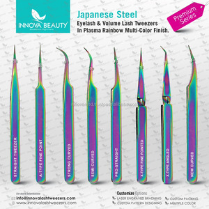 Titanium Eyelash Extension Tweezers pro Straight & Curved and Curved Pointed Tip Smart Eyelash Tweezers