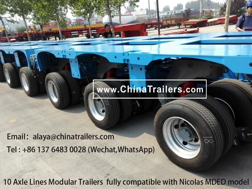 Sale to Africa nicolas MDED modular trailer with a low price