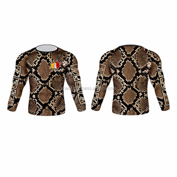 Long Sleeve Snake skin printing sublimation Rash guard custom print paypal