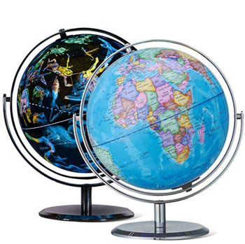 720 องศาการหมุน Interactive World Globe, Illuminated Constellation World Globe
