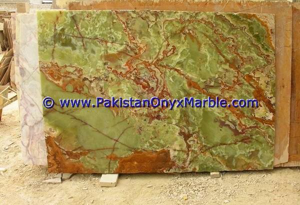 INDOOR AND OUT DOOR USE ONYX TABLE TOPS COLLECTIONS DARK GREEN/MULTI BROWN/WHITE