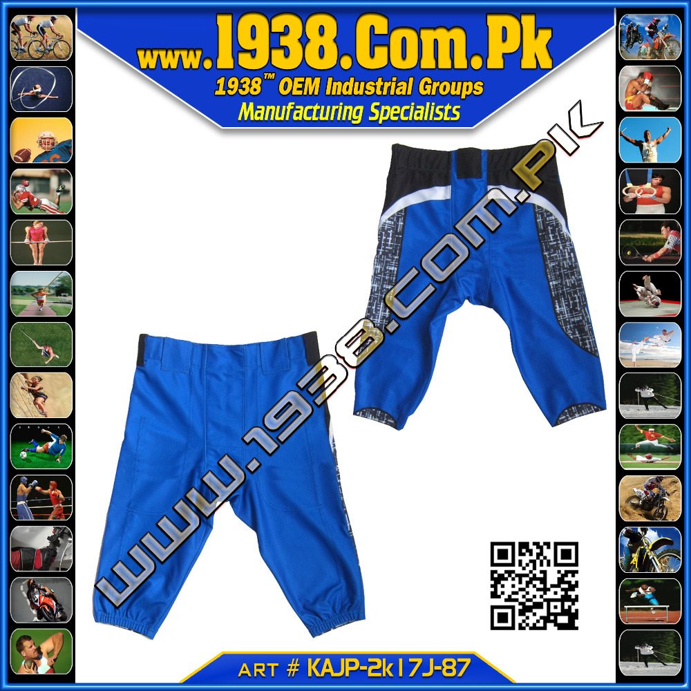 American football Game Pant / Both Size Charts/