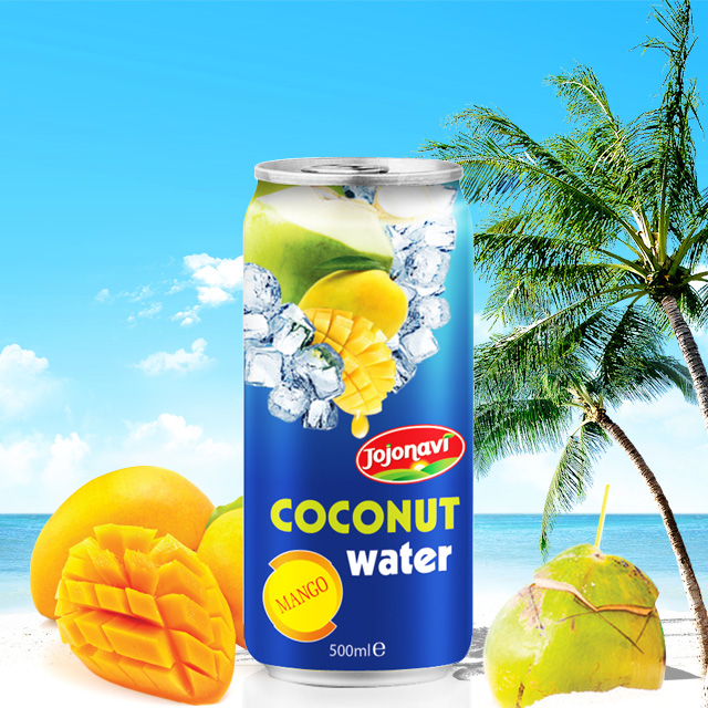 ORGANIC COCONUT WATER with Mango fruit juice flavor
