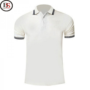 Brussels Sports Wholesale Cotton +Polyester Spandex Plain Short Sleeve Sport Golf Polo Shirt Men