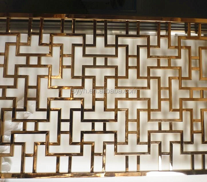 Wholesale Living Room Restaurant Hotel Decorative Screen Laser Cut Stainless Steel Room Divider