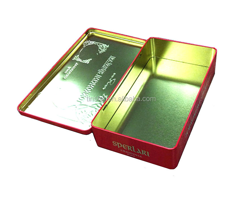 customized printing rectangular tin box with competitive price