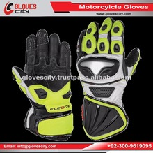 Hidden plastic knuckle armor for protection Leather Motorcycle Gloves/ Extra Panel Custom Design Leather Motorcycle Gloves