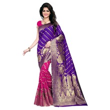 Wholesale Saree Purple & Pink Banarasi Art Silk Woven Work Saree